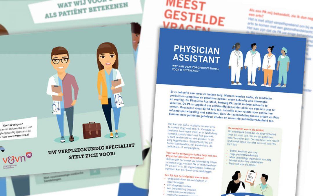 Platform Zorgmasters: Nieuwe patiëntfolders VS en PA