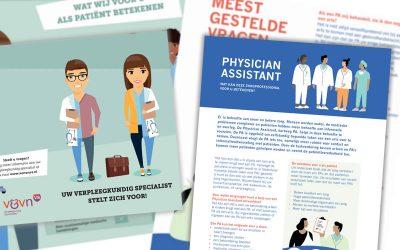 Nieuwe patiëntenfolders VS en PA