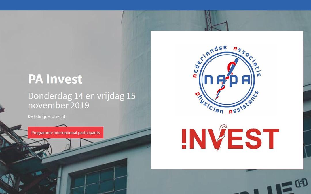 PA-Invest 2019 op 14 en 15 november; het 15-jarig bestaan van de NAPA
