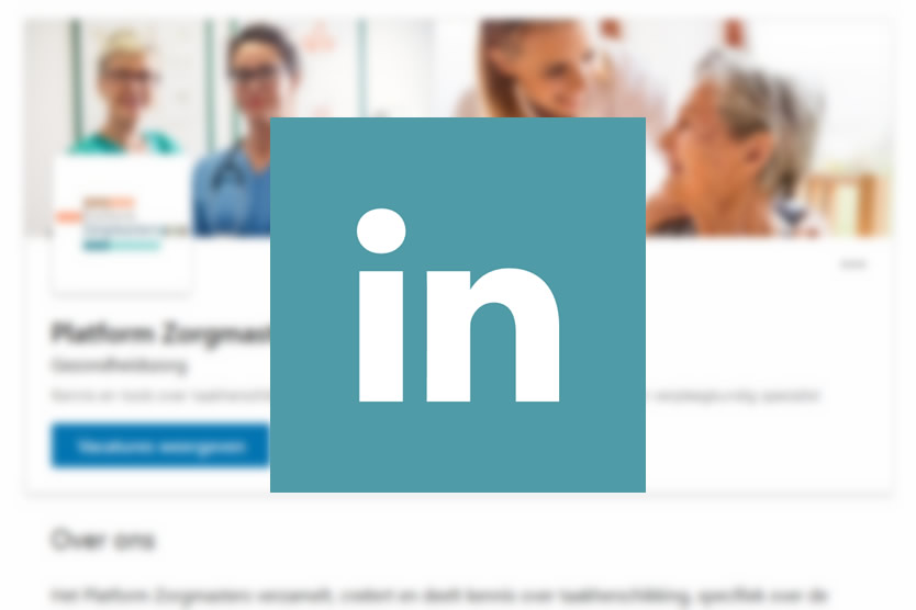 Platform Zorgmasters - volg ons op LinkedIn