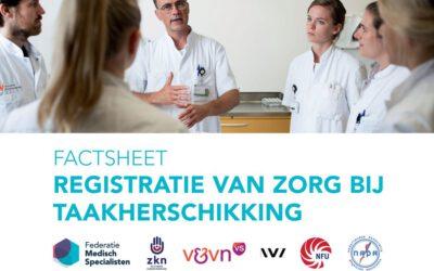 Factsheet: Registratie van zorg bij taakherschikking
