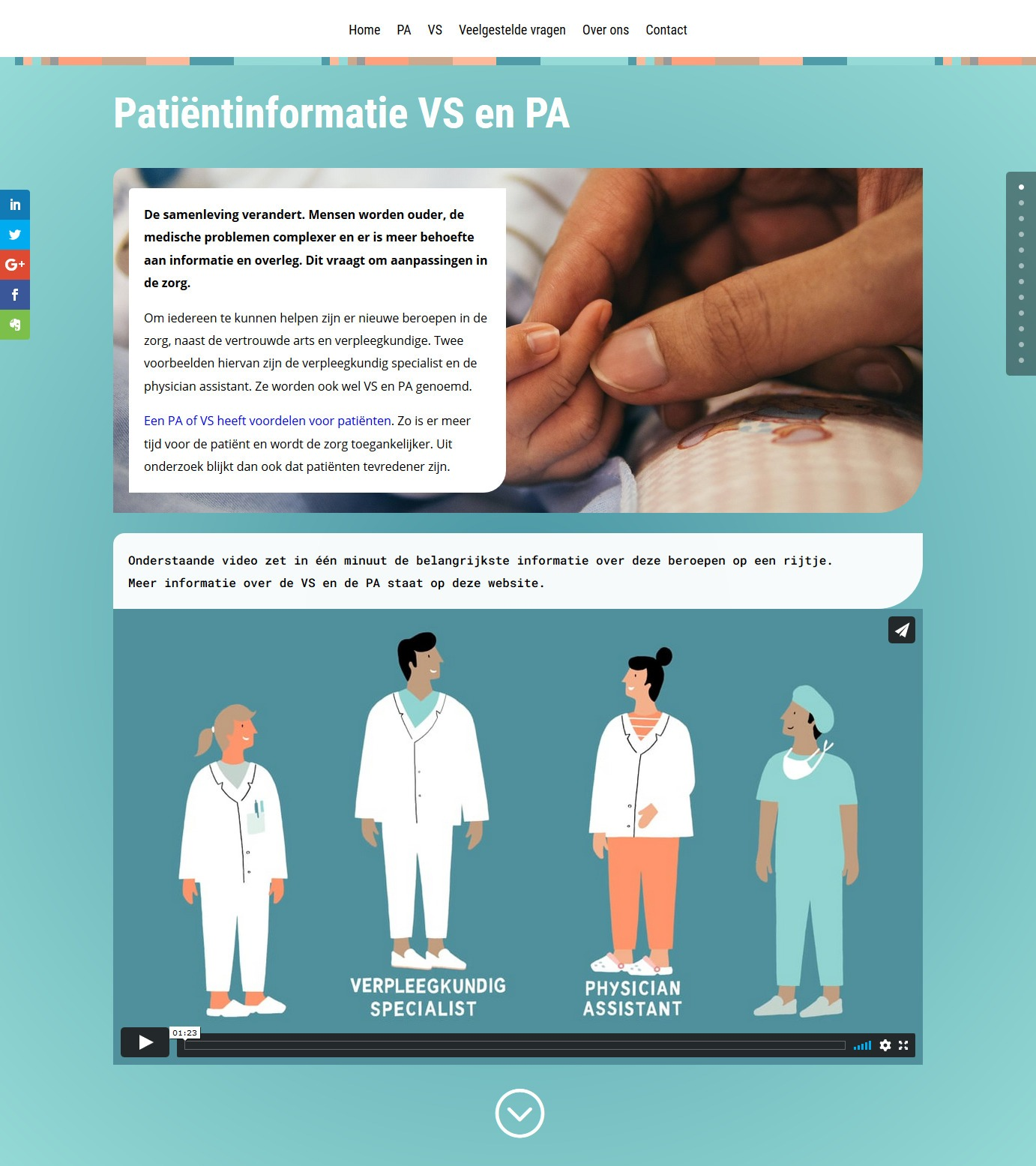 Platform Zorgmasters: bezoek de website voor patiënten