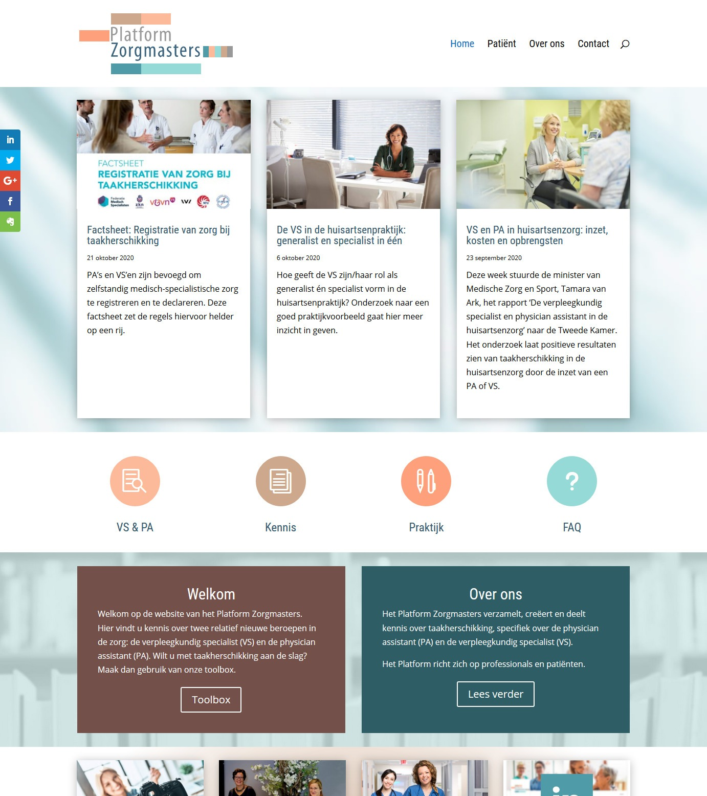 Platform Zorgmasters: bezoek de website voor zorgprofessionals